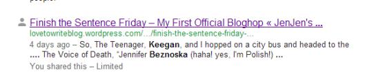 Keegan's Discovery